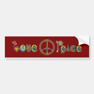 Love and Peace Bumper Sticker