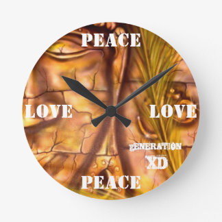 LOVE AND PEACE CLOCK