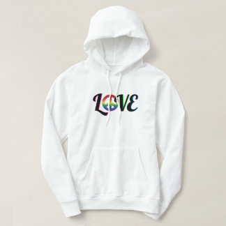 Love and Peace Hippy Retro Sign Hoodie