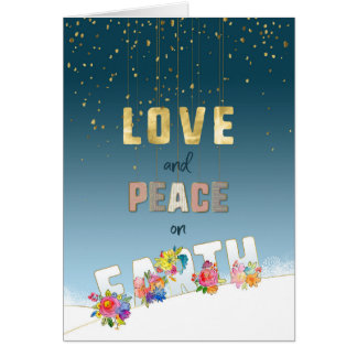 Love and Peace on Earth Card