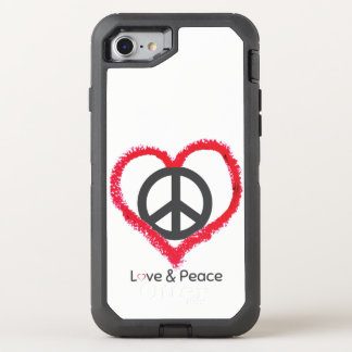 Love and Peace OtterBox Apple iPhone 7 case