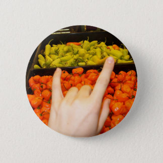 love and peppers 2 inch round button
