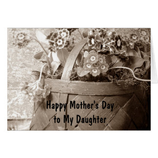 LOVE AND PRIDE FOR YOUR DAUGHTER ON MOTHER'S DAY GREETING CARD