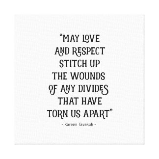 Love and Respect canvas poster