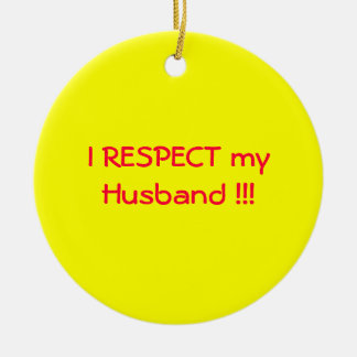 Love and Respect Round Ceramic Ornament