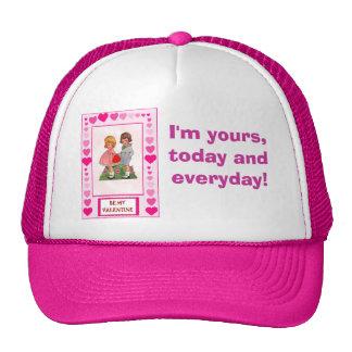 Love and romance be my Vanentine Mesh Hats
