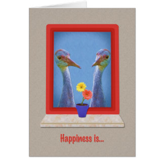 Love and Romance Card,Two Young Sandhill Cranes Card