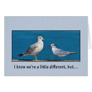 Love and Romance, Humor, Birds Greeting Card