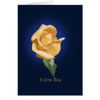 Love and Romance, I Love you, Rose Greeting Card