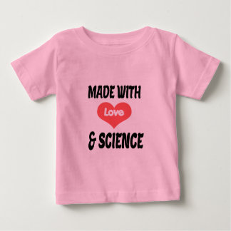 Love and science baby tshirt