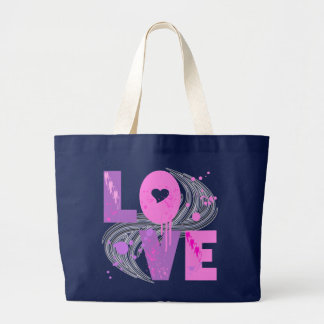 LOVE AND SPLATTERS LARGE TOTE BAG