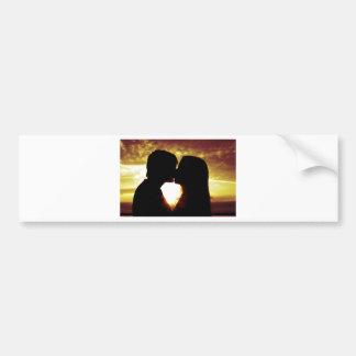 Love and summer bumper sticker