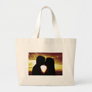 Love and summer large tote bag