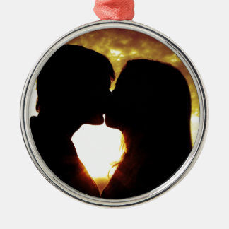 Love and summer metal ornament