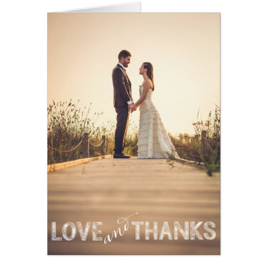 Love and Thanks, Modern Wedding Thank You Card