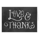 Love and Thanks Note Cards | Chalkboard Charm
