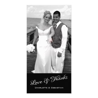 Love And Thanks Photo Template Personalized Photo Cards