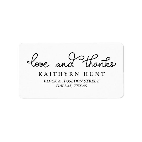 Love And Thanks Script Wedding