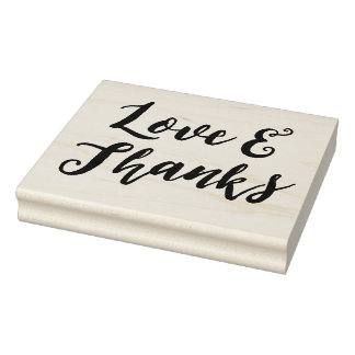 Love and Thanks Wedding Rubber Stamp