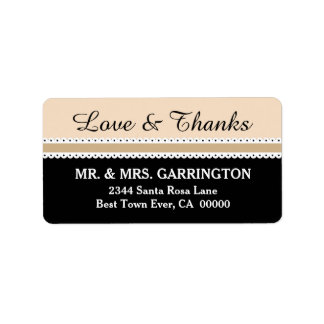 LOVE and THANKS Wedding Scalloped Ribbon V06