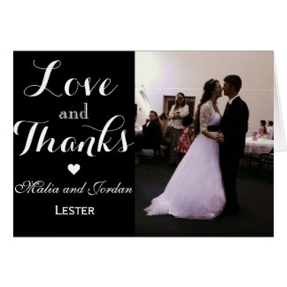 Love and Thanks Wedding Thank You Note Card
