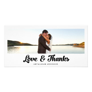 Love and Thanks | Wedding Thank You Photo Card