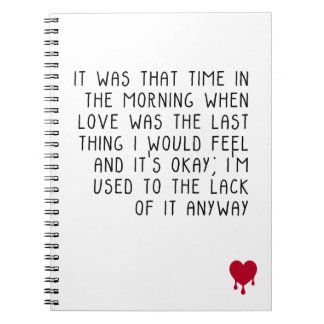 Love and the lack of it notebook
