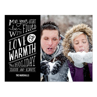 Love and Warmth Holiday Photo Card Postcard