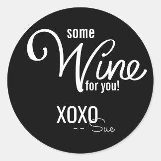 Love and Wine Custom Gift Seals Round Sticker