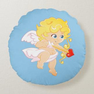 Love Angel Round Pillow
