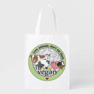 Love Animals Dont Eat Them Vegan Market Tote
