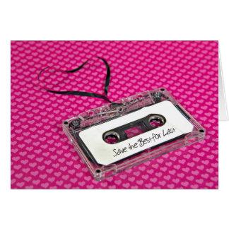 Love Anniversary Cassette Tape Card