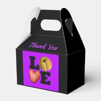 LOVE Apple Heart Potato Name Thank You Favor box