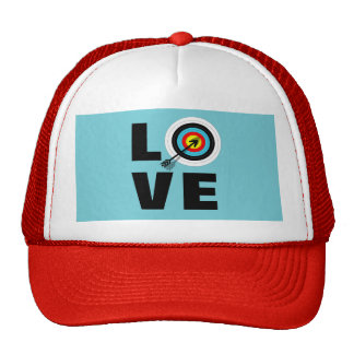 Love Archery Sport Target Board Cool Graphic Trucker Hat