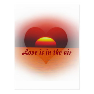love are in the air postcard