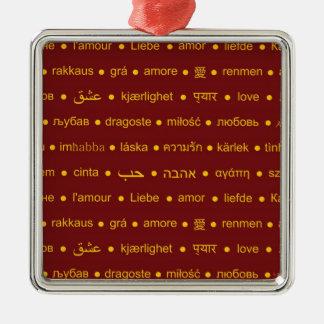 Love around the World Metal Ornament