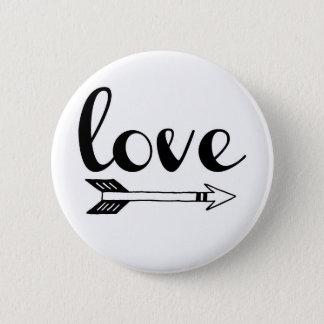Love Arrow Design 2 Inch Round Button