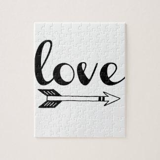 Love Arrow Design Jigsaw Puzzle