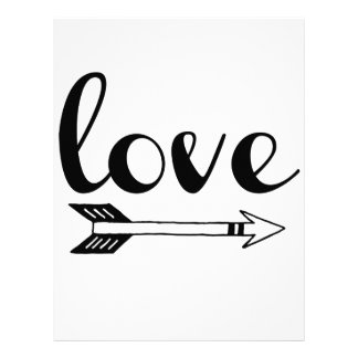 Love Arrow Design Letterhead