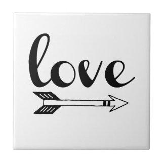 Love Arrow Design Tile