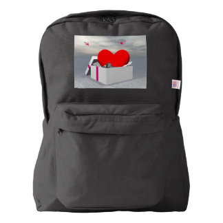 Love as a gift - 3D render Backpack