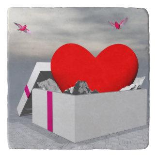 Love as a gift - 3D render Trivet