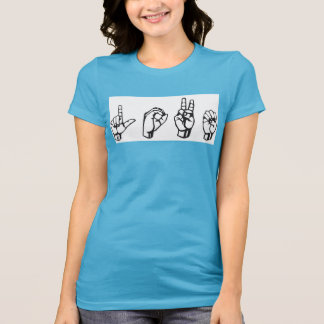 Love ASL blue t-shirt