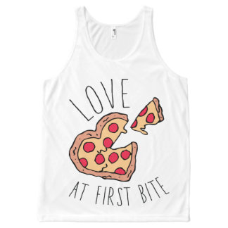 Love at First Bite Pizza All-Over-Print Tank Top