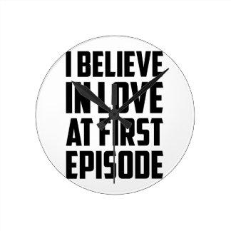 Love at First Episode Round Clock