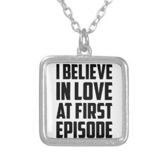 Love at First Episode Silver Plated Necklace
