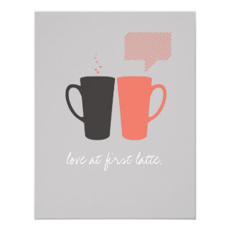 """Love at First Latte"" Party/Shower Invite"