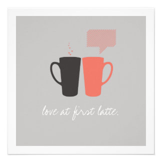 """""""Love at First Latte""""  Shower Invite"""