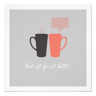 """Love at First Latte""  Shower Invite"