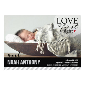 Love at First Sight Baby Announcement
